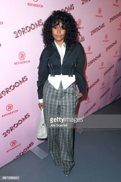 Gabrielle Union attends Refinery29 29Rooms Los Angeles Turn It Into Art Opening Night Party at ROW DTLA on December 6 2017 in Los Angeles California