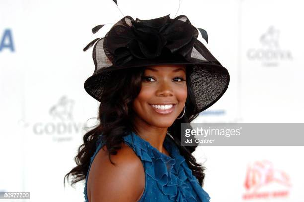 Gabrielle Union attends the 134th running of the Kentucky Derby at Churchill Downs on May 3 2008 in Louisville Kentucky