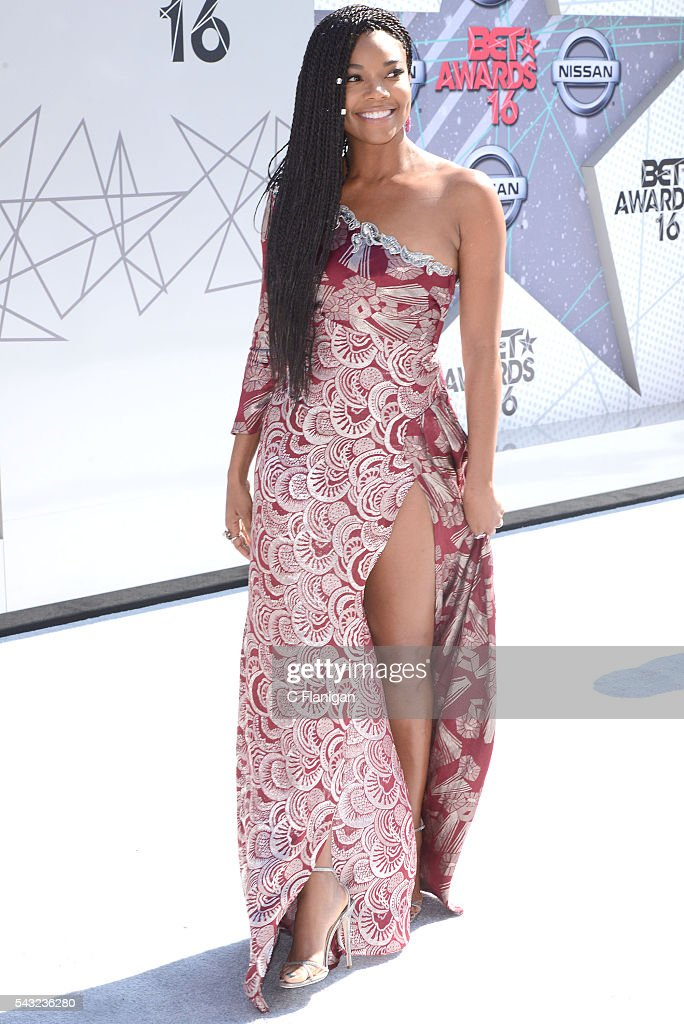 <a gi-track='captionPersonalityLinkClicked' href=/galleries/search?phrase=Gabrielle+Union&family=editorial&specificpeople=202066 ng-click='$event.stopPropagation()'>Gabrielle Union</a> attends the 2016 BET Awards at Microsoft Theater on June 26, 2016 in Los Angeles, California.