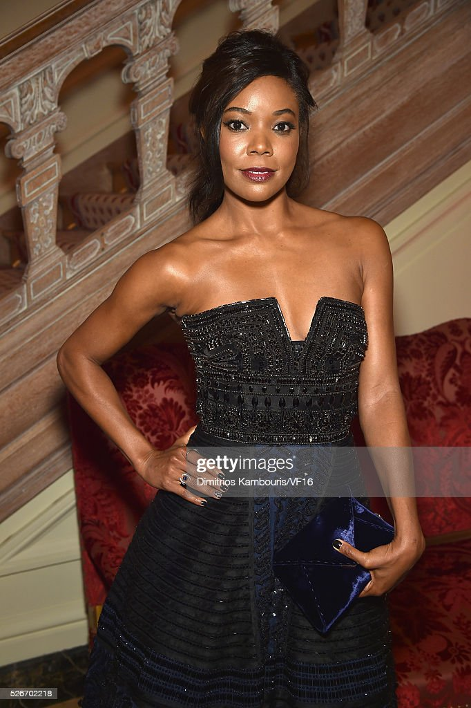 Gabrielle Union attends the Bloomberg & Vanity Fair cocktail reception following the 2015 WHCA Dinner at the residence of the French Ambassador on April 30, 2016 in Washington, DC.
