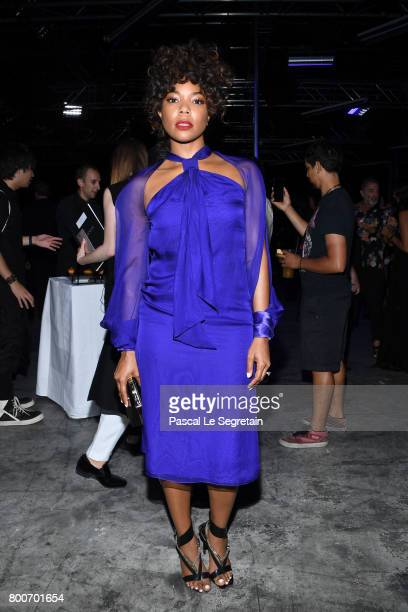 Gabrielle Union attends the Lanvin Menswear Spring/Summer 2018 show as part of Paris Fashion Week on June 25 2017 in Paris France