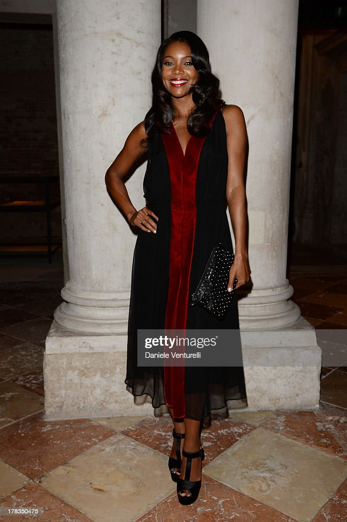 Gabrielle Union attends the Miu Miu Women's Tales dinner hosted by Miuccia Prada at the Ca' Corner on August 29, 2013 in Venice, Italy.