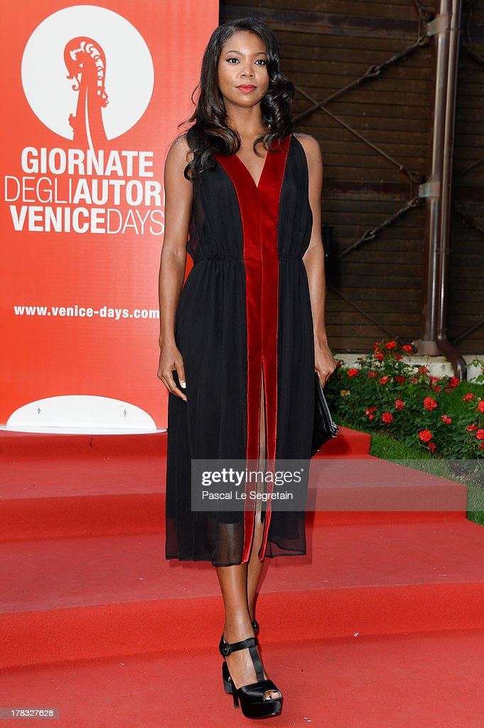 <a gi-track='captionPersonalityLinkClicked' href=/galleries/search?phrase=Gabrielle+Union&family=editorial&specificpeople=202066 ng-click='$event.stopPropagation()'>Gabrielle Union</a> attends the Miu Miu Women's Tales during the 70th Venice International Film Festival on August 29, 2013 in Venice, Italy.