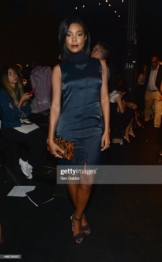 Gabrielle Union attends the rag bone Spring 2016 fashion show during New York Fashion Week at St Ann's Warehouse on September 14 2015 in New York City