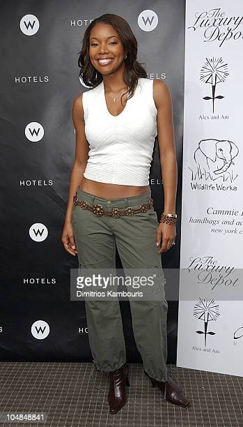 Gabrielle Union during Command PR and the W Hotel Present 'The Luxury Depot' Suite Day One at W Hotel Times Square in New York NY United States