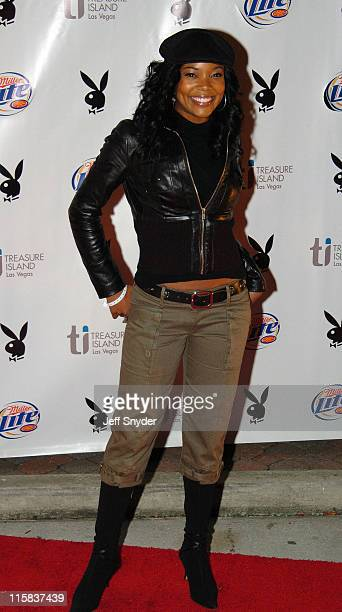 Gabrielle Union during Playboy's 6th Annual Super Bowl Party at River City Brewing Company in Jacksonville FL United States
