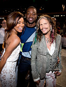 Gabrielle Union Dwyane Wade and Steven Tyler attends the D'USSE VIP Riser and Lounge at On The Run Tour Chicago at Soldier Field on July 24 2014 in...