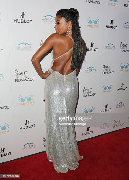 Gabrielle Union is seen arriving at 'A Night on the RunWade' fashion event at Ice Palace Studios on November 14 2015 in Miami Florida