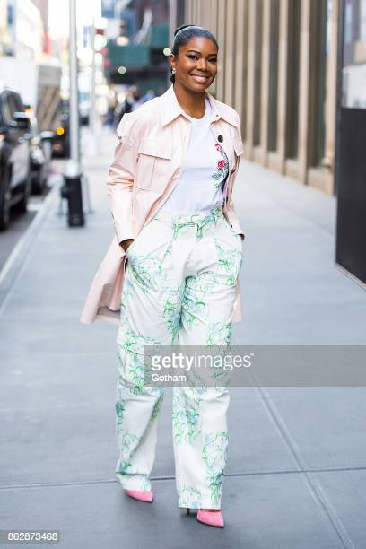 Gabrielle Union is seen in Midtown on October 18 2017 in New York City