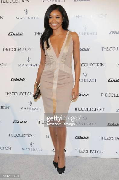 Gabrielle Union makes an appearance at the unveiling of the new Maserati Ghibli at The Collection on November 21 2013 in Miami Florida