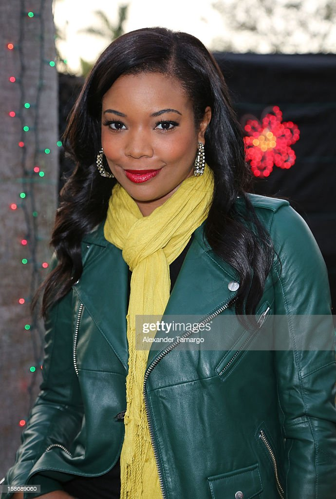 <a gi-track='captionPersonalityLinkClicked' href=/galleries/search?phrase=Gabrielle+Union&family=editorial&specificpeople=202066 ng-click='$event.stopPropagation()'>Gabrielle Union</a> makes an appearance on behalf of Wade's World Foundation at Santa's Enchanted Forest on December 23, 2012 in Miami, Florida.