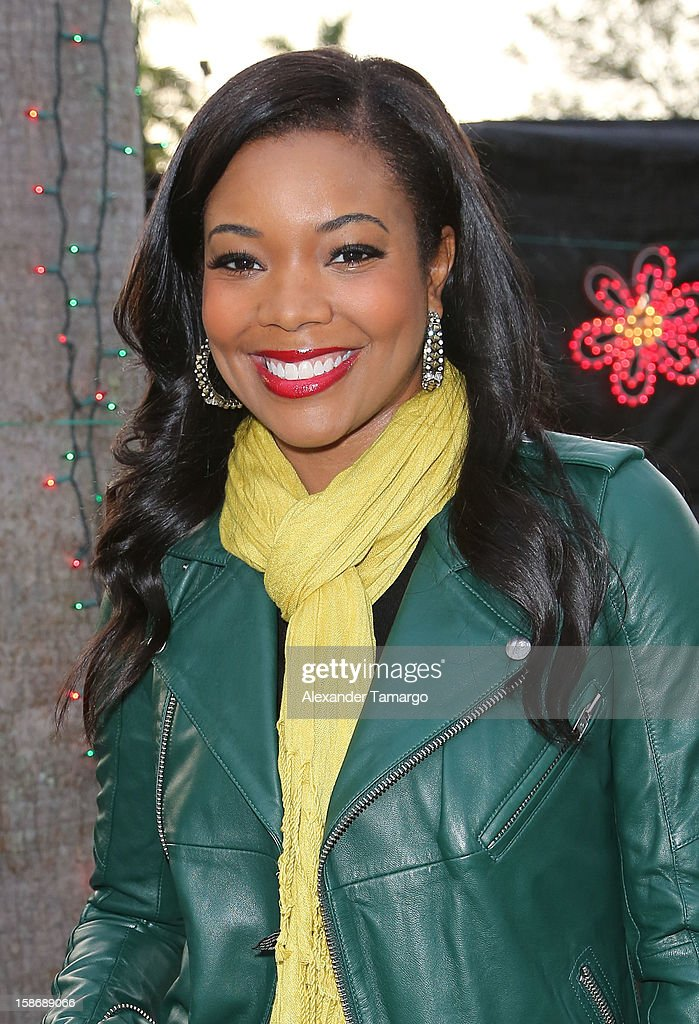 Gabrielle Union makes an appearance on behalf of Wade's World Foundation at Santa's Enchanted Forest on December 23, 2012 in Miami, Florida.