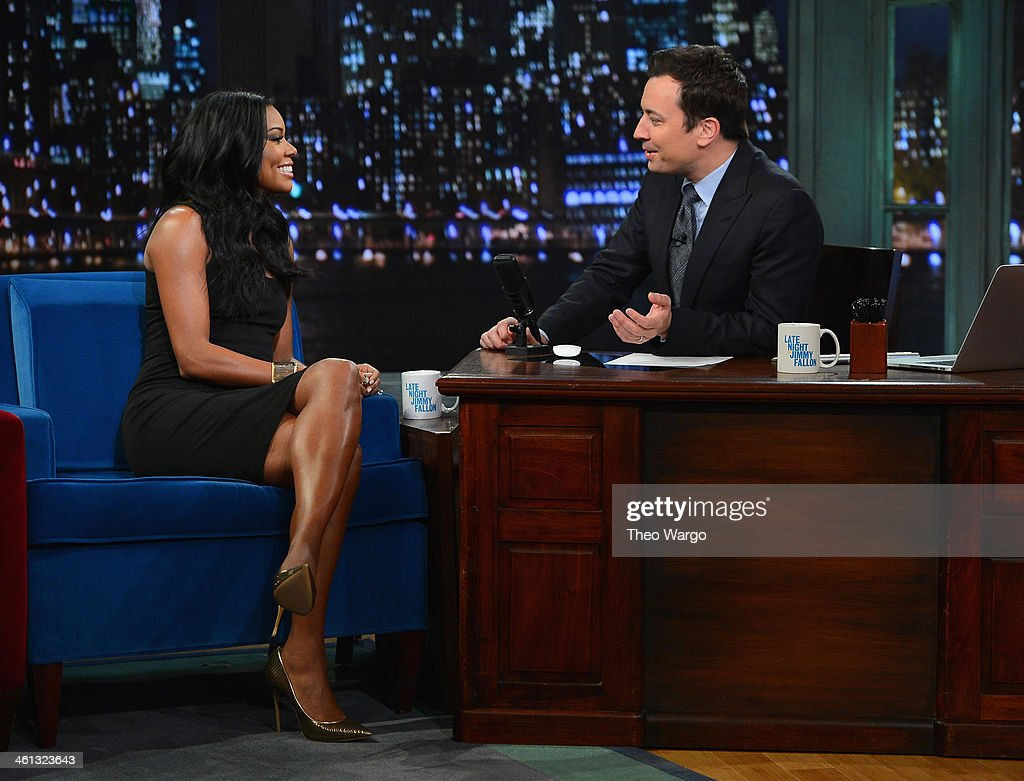 <a gi-track='captionPersonalityLinkClicked' href=/galleries/search?phrase=Gabrielle+Union&family=editorial&specificpeople=202066 ng-click='$event.stopPropagation()'>Gabrielle Union</a> visits 'Late Night With Jimmy Fallon at Rockefeller Center on January 7, 2014 in New York City.