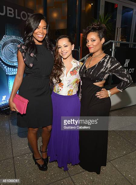 Gabrielle UnionAdrienne Bosh and Amaris Jones attends the Haute Living Miami's 'Woman Of Substance Woman Of The Year' Awards 2013 on November 20 2013...