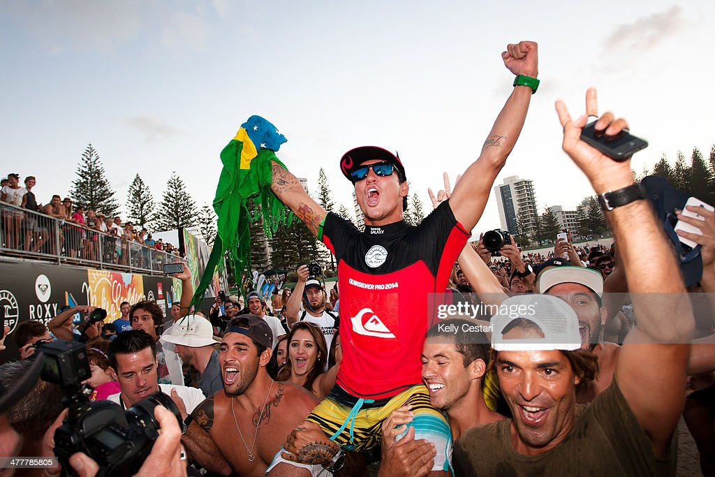 Gabrile Medina of Brazil won the Quiksilver Pro Gold Coast at Snapper Rocks on March 11, 2014 in Gold Coast, Australia.