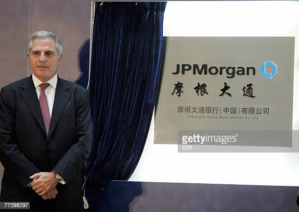 Gaby Abdelnour Chairman and CEO of JP Morgan Chase Asia Pacific officiates the local incorporation of the bank in Beijing 11 October 2007 JPMorgan...