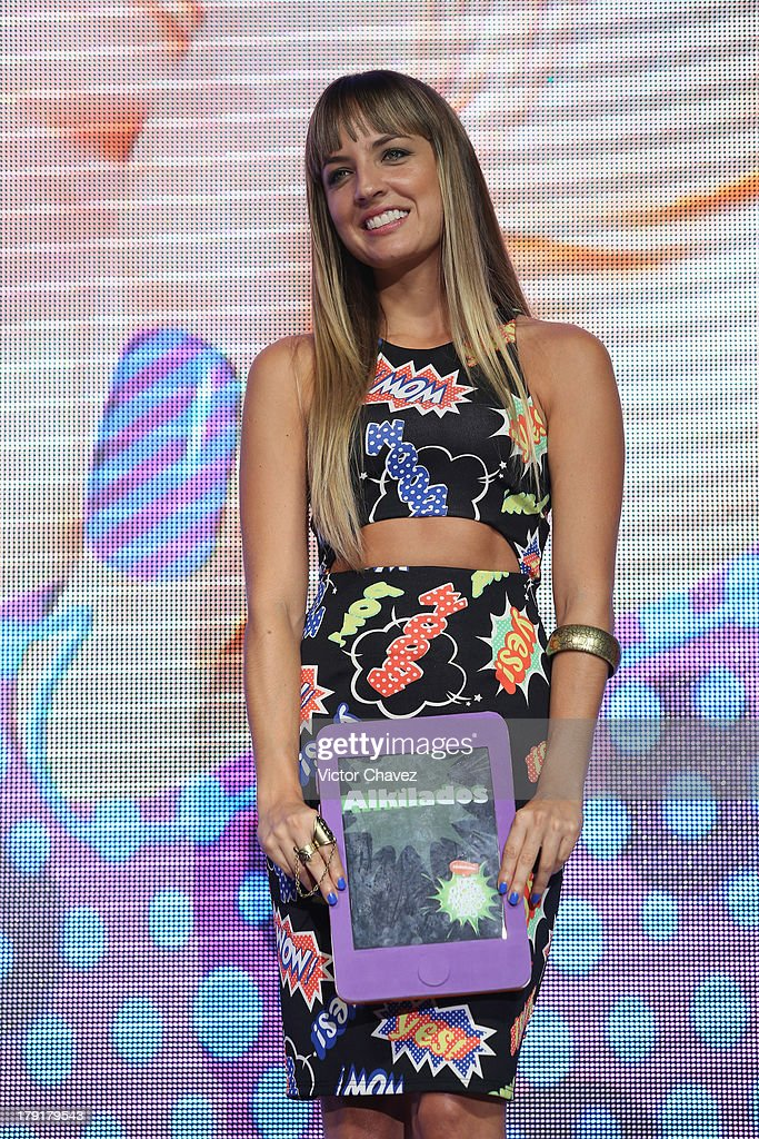 Gaby de K speaks onstage during the Kids Choice Awards Mexico 2013 at Pepsi Center WTC on August 31, 2013 in Mexico City, Mexico.