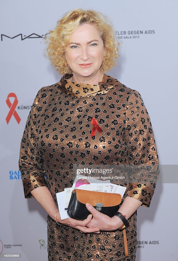Gaby Decker attends the Artists Against Aids Gala 2013 (Kuenstler gegen Aids Gala 2013) at Stage Theater on November 25, 2013 in Berlin, Germany.