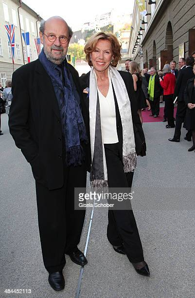 Gaby Dohm and her boyfriend Peter Deutsch attend the opening of the easter festival 2014 on April 12 2014 in Salzburg Austria
