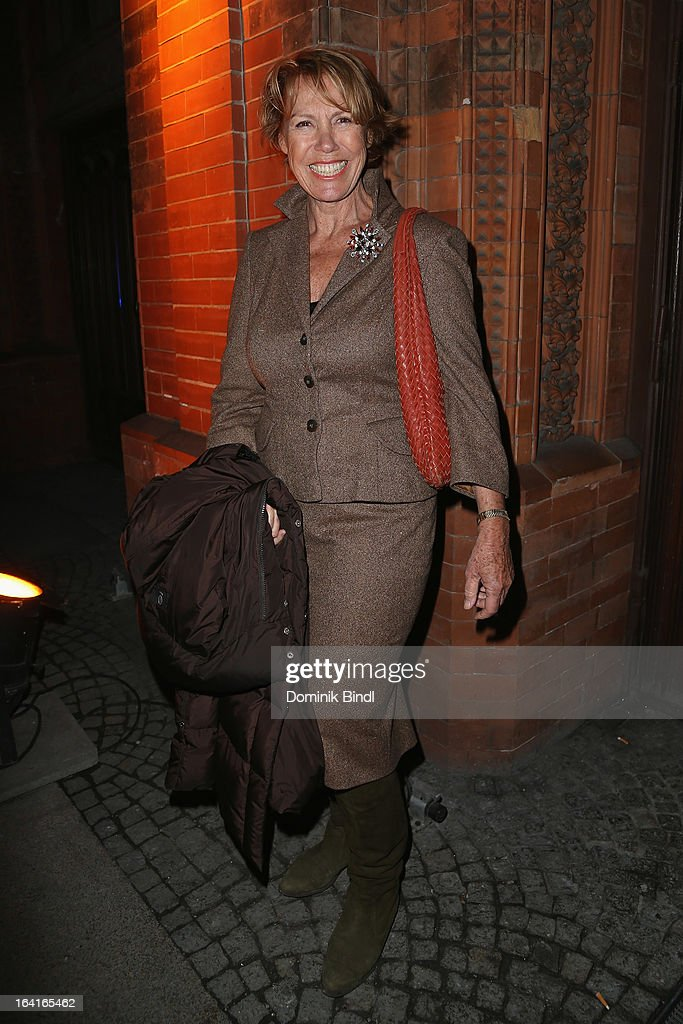 Gaby Dohm attends the Ndf Afterwork Party at 8 Seasons on March 20, 2013 in Munich, Germany.