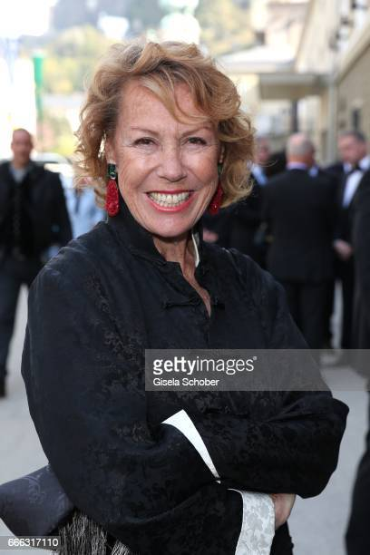 Gaby Dohm during the opening of the Easter Festival 2017 'Walkuere' opera premiere on April 8 2017 in Salzburg Austria The opera is a recreation of...