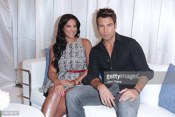 Gaby Espino and Rafael Amaya attend the announcement of the hosts of First Annual Premios Tu Mundo Awards on August 2 2012 in Miami Florida