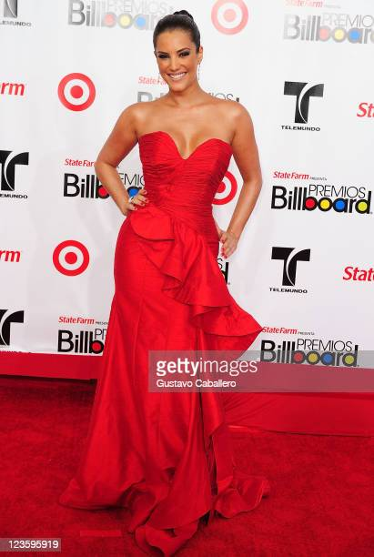 Gaby Espino arrives at the 2011 Billboard Latin Music Awards at Bank United Center on April 28 2011 in Miami Florida
