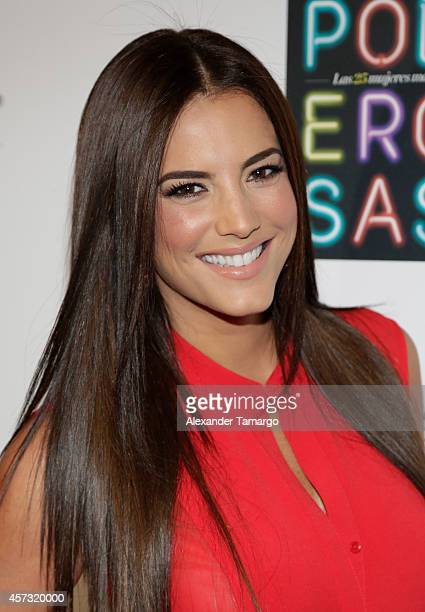 Gaby Espino arrives at the 25 Most Powerful Women of People en Espanol celebration at Coral Gables Country Club on October 16 2014 in Coral Gables...