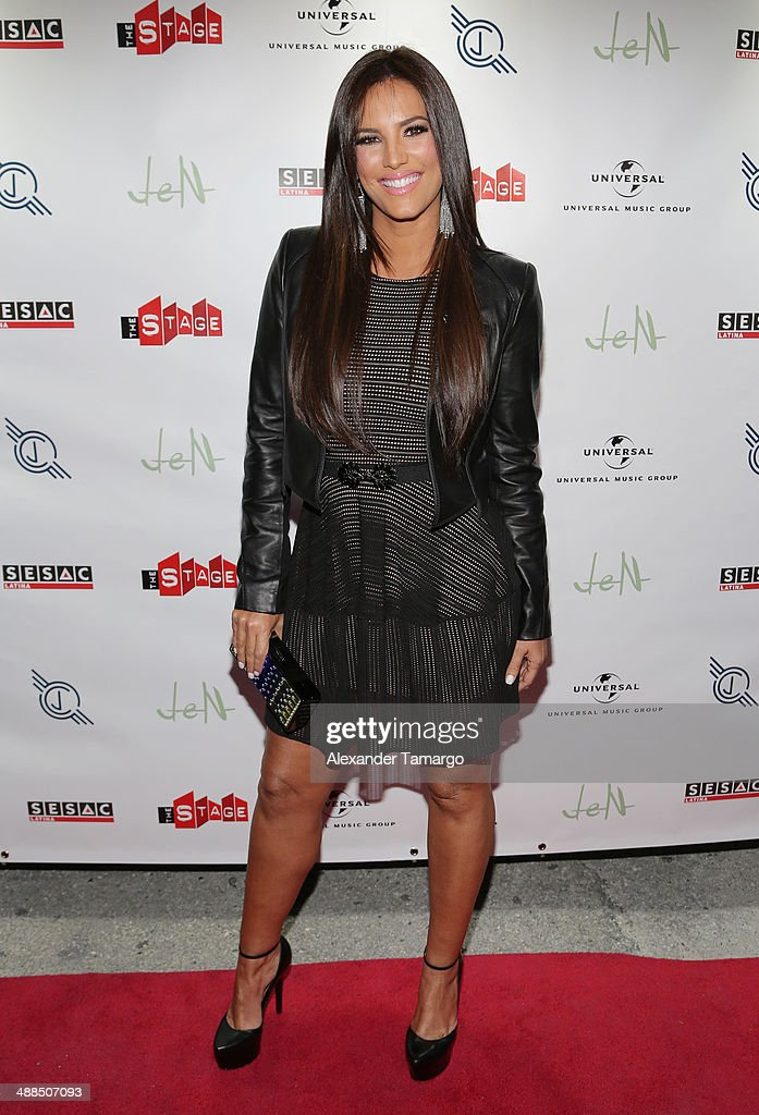 <a gi-track='captionPersonalityLinkClicked' href=/galleries/search?phrase=Gaby+Espino&family=editorial&specificpeople=4233029 ng-click='$event.stopPropagation()'>Gaby Espino</a> arrives at the Jencarlos Canela private concert to present his new album 'Jen' at The Stage on May 6, 2014 in Miami, Florida.