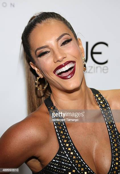 Gaby Espino arrives at the Venue Magazine 9 year anniversary party at House Nightclub on September 18 2015 in Miami Florida