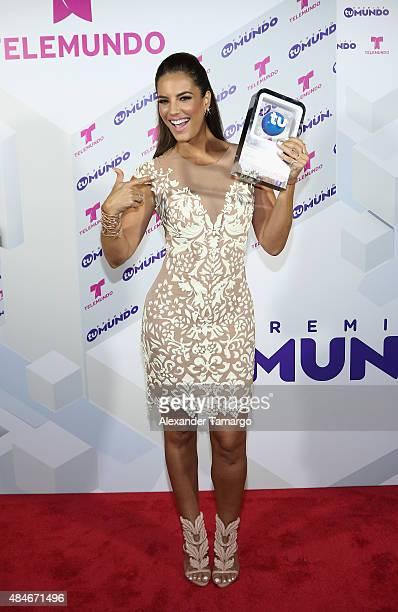 Gaby Espino attends Telemundo's 'Premios Tu Mundo Awards' 2015 at American Airlines Arena on August 20 2015 in Miami Florida