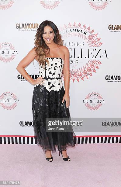 Gaby Espino attends the Glamour Beauty Awards Latin America 2016 at Palmeira Beach Club on February 24 2016 in Miami Florida