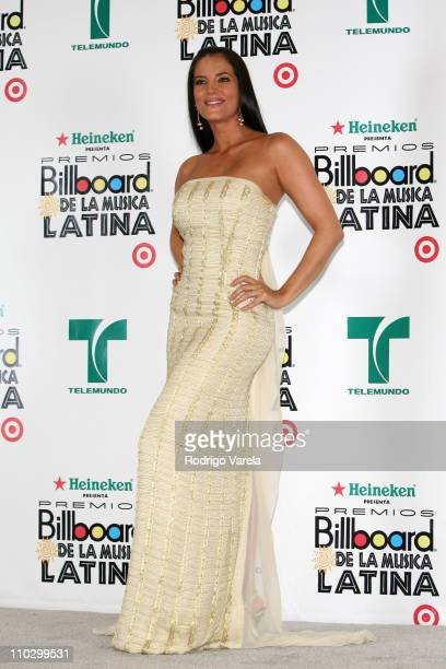 Gaby Espino during Billboard Latin Music Conference and Awards 2007 Press Room at Bank United Center in Coral Gables Florida United States
