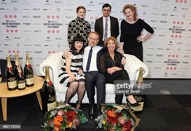 Gaby Hermon Simon Bird Murial van Cruchten Johanna von Fischer Jared Harris and Tessa Collinson pose at The Moet British Independent Film Awards 2014...