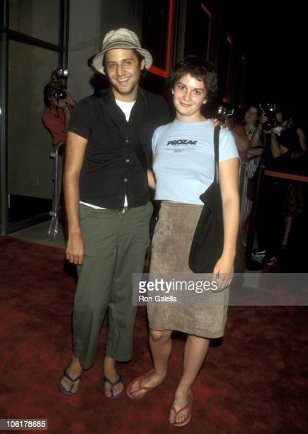 Gaby Hoffman and guest during Grand Opening of Virgin Megastore at Union Square August 27 1998 at Virgin Megastore at Union Square in New York City...