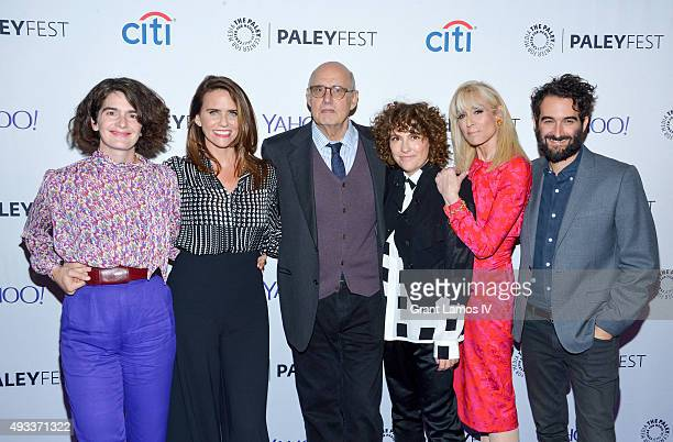 Gaby Hoffmann Amy Landecker Jeffrey Tambor Jill Soloway Judith Light and Jay Duplass attend the PaleyFest 2015 'Transparent' screening at The Paley...