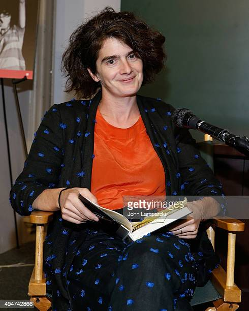Gaby Hoffmann interviews Carrie Brownstein at Barnes Noble Union Square on October 28 2015 in New York City