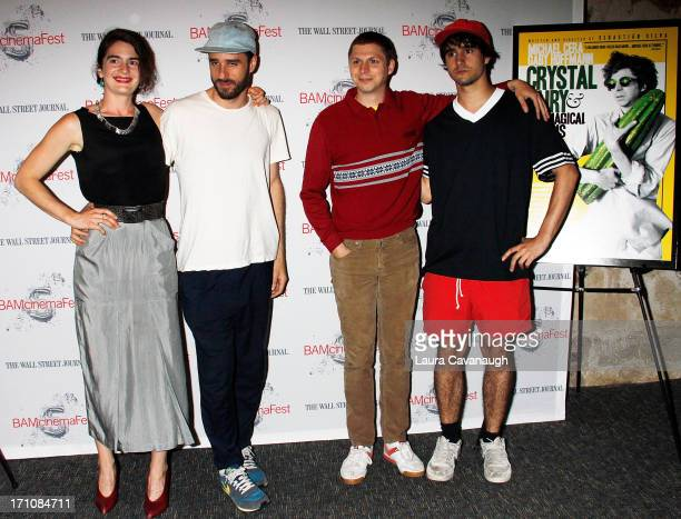 Gaby Hoffmann Sebastian Silva Michael Cera and Augustin Silva attend BAMcinemaFest New York 2013 screening of 'The Crash Reel' at BAM Harvey Theater...