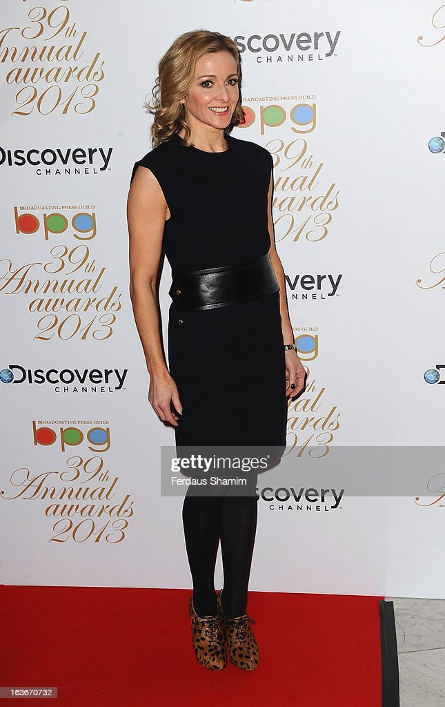 Gaby Logan attends the Broadcasting Press Guild TV and Radio awards on March 14, 2013 in London, England.