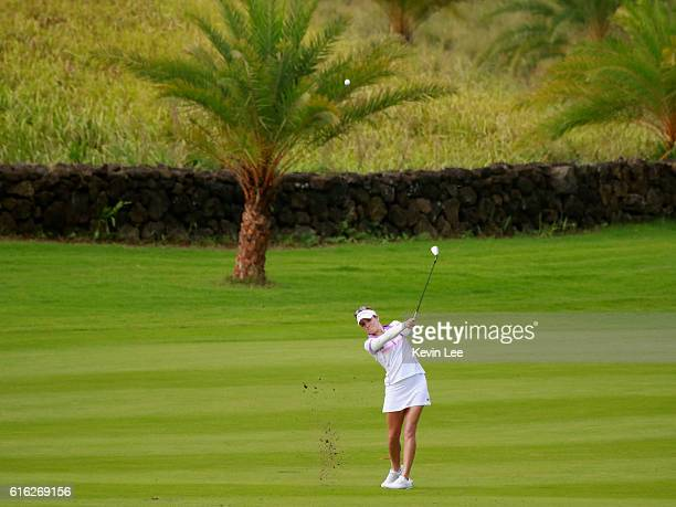 Gaby Lopez of Mexico hits a shot during Round 3 of Blue Bay LPGA of Day 3 on October 22 2016 in Hainan Island China