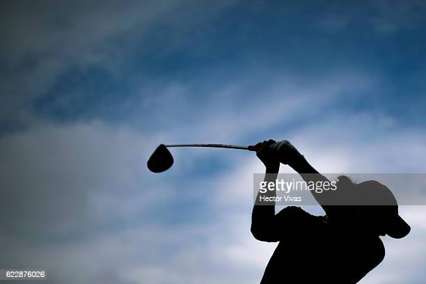Gaby Lopez of Mexico hits her drive during the Lorena Ochoa Invitational 2016 at Club de Golf on November 12 2016 in Mexico City Mexico
