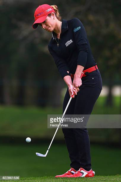 Gaby Lopez of Mexico putts on during the Lorena Ochoa Invitational 2016 at Club de Golf on November 12 2016 in Mexico City Mexico