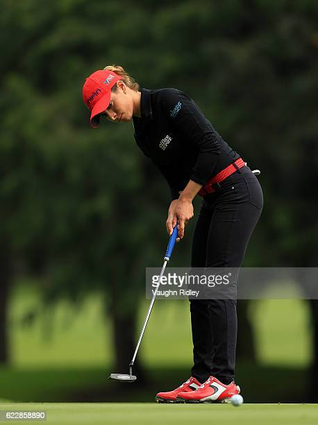 Gaby Lopez of Mexico putts on the 5th hole during the third round of the Citibanamex Lorena Ochoa Invitational Presented By Aeromexico and Delta at...