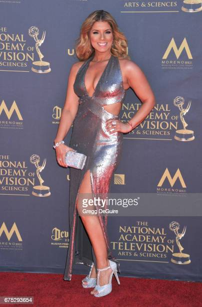 Gaby Natale arrives at the 44th Annual Daytime Emmy Awards at Pasadena Civic Auditorium on April 30 2017 in Pasadena California