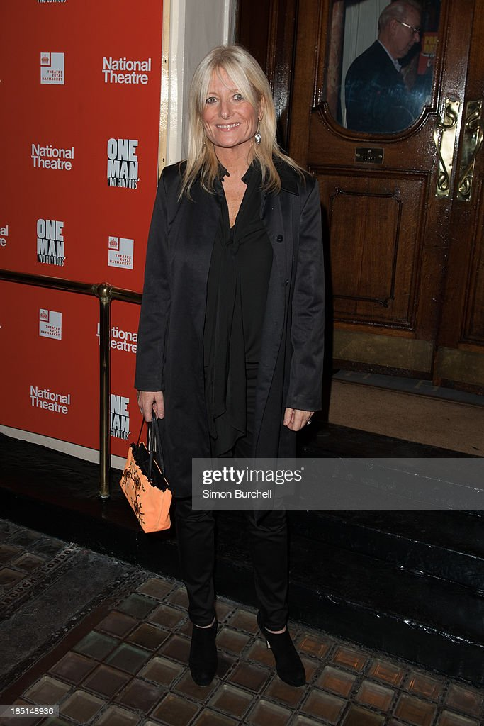 <a gi-track='captionPersonalityLinkClicked' href=/galleries/search?phrase=Gaby+Roslin&family=editorial&specificpeople=208181 ng-click='$event.stopPropagation()'>Gaby Roslin</a> attends the press night for the new cast of 'One Man, Two Guvnors' at Theatre Royal on October 17, 2013 in London, England.
