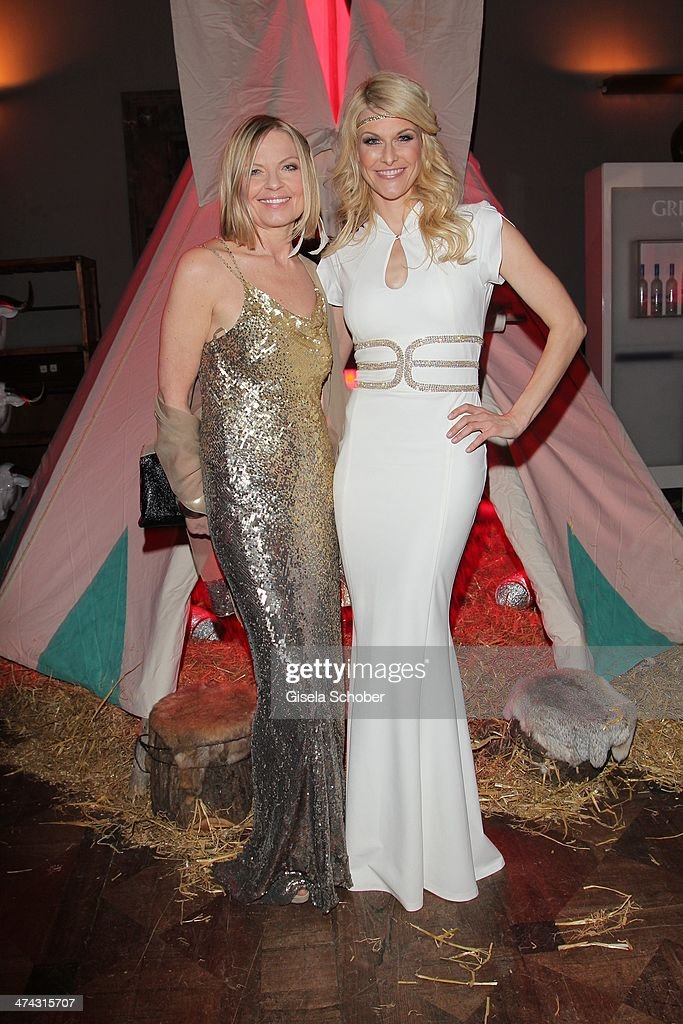 Gaby Strassburger and Natascha Gruen attend the Dresswestern party ( by Dresscoded and Ingolstadt Village) at Rilano No 6 on February 22, 2014 in Munich, Germany.