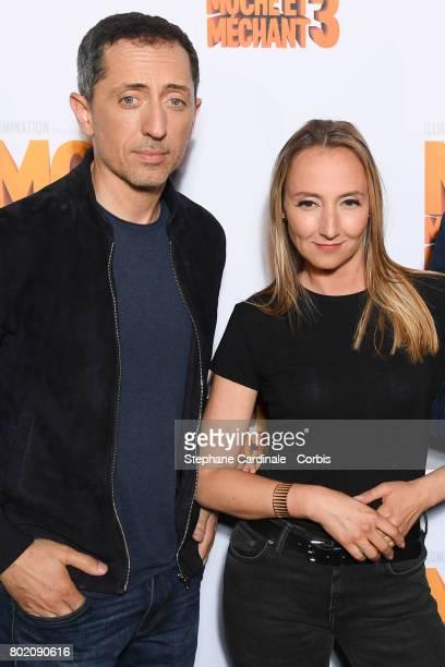 Gad Elmaleh and Audrey Lamy attend the Despicable Me Paris Premiere at Cinema Gaumont Marignan on June 27 2017 in Paris France
