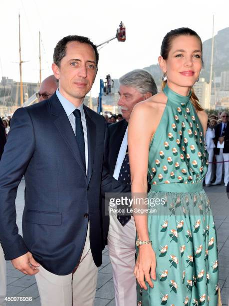 Gad Elmaleh and Charlotte Casiraghi attend the Monaco Yacht Club Opening on June 20 2014 in MonteCarlo Monaco