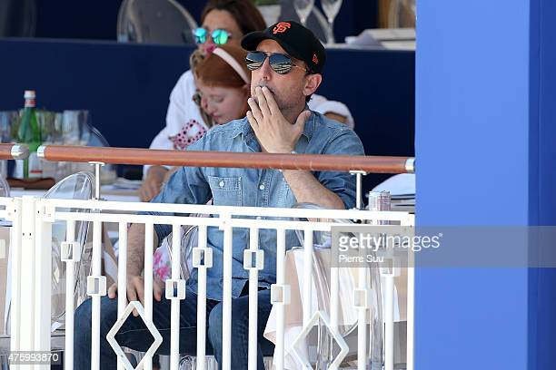 Gad Elmaleh attends the Longines Athina Onassis horse Show on June 5 2015 in SaintTropez France