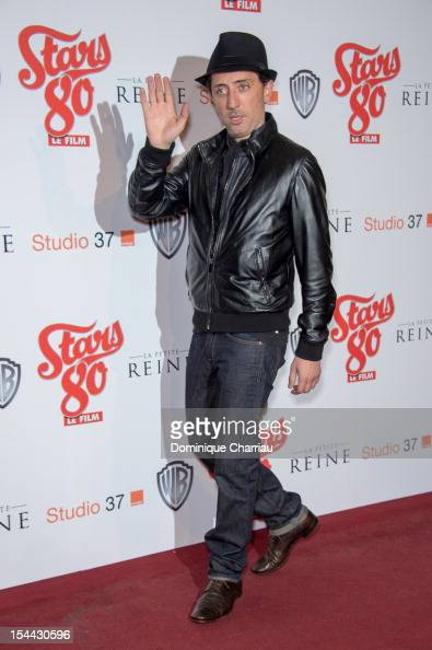 Gad Elmaleh attends the 'Stars 80' Film Premiere at Le Grand Rex on October 19 2012 in Paris France